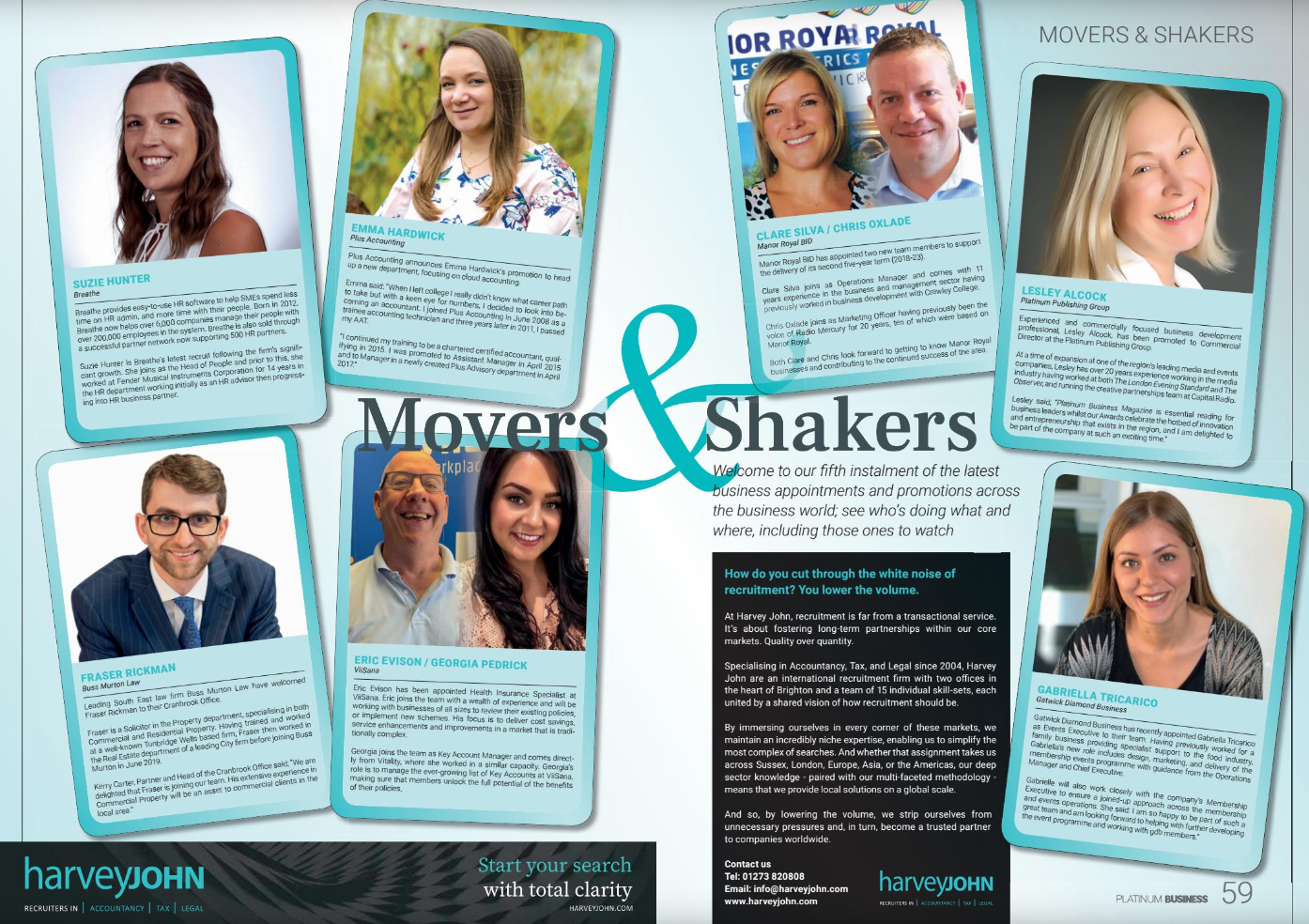 Movers & Shakers September 2019